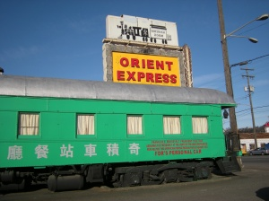 The classiest of haunted train restaurants.