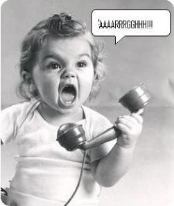 angry phone customer