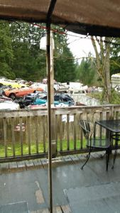 A Veranda With A Charming Junkyard View