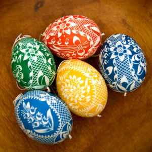 Wax Technique Batik Eggs