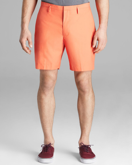 Men's Coral Shorts Above The Knees