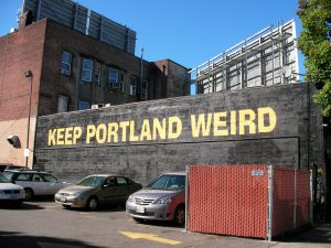 Portland really isn't that weird apparently and needs encouragement