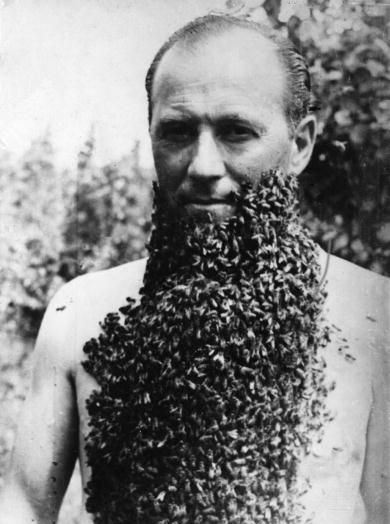 For instance, this man is proud of his trained bees.